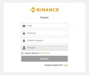регистрация в binance